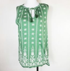 Lucky Brand Green Tank Top